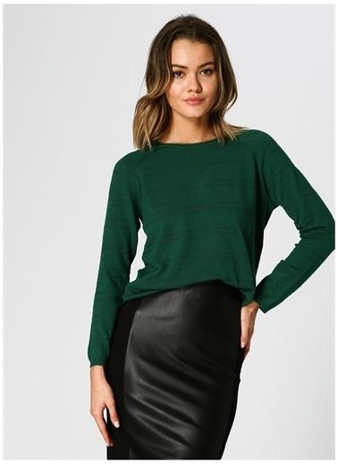 Optique Knitwear Optique Ajurlu Yeşil Kazak Yeşil